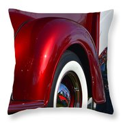Red Chevy Pickup Fender Throw Pillow