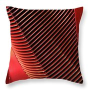 Red Classic Car Details Throw Pillow by Oleksiy Maksymenko