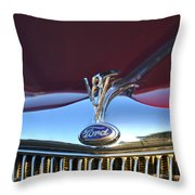Red Ford Hotrod Throw Pillow