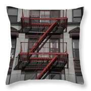 2 Red Zs Throw Pillow