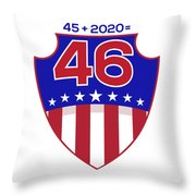 Reelect Trump For President Keep America Great Light Throw Pillow