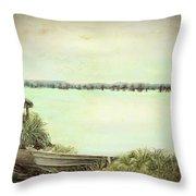 Reelfoot Lake Fishing Throw Pillow