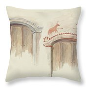 Restoration Drawing Throw Pillow