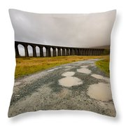 Ribblehead Viaduct Throw Pillow