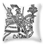 Richard I (1157-1199) Throw Pillow