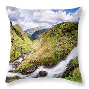 Rila Mountain Throw Pillow