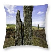 Ring Of Brodgar Throw Pillow
