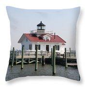 Roanoke Marshes Lighthouse Throw Pillow