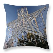 Roanoke Star In Late Afternoon Throw Pillow