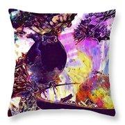 Robin Erithacus Rubecula Bird  Throw Pillow