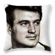 Rock Hudson, Vintage Hollywood Legend Throw Pillow