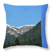 Rocky Mountains 2 Throw Pillow