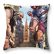 Roosevelt Cartoon, 1904 Throw Pillow