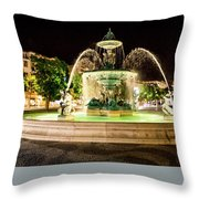 Rossio Square Night Throw Pillow