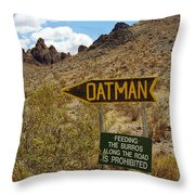 Route 66 - Arizona Throw Pillow