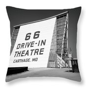 Route 66 - Drive-in Theatre Throw Pillow