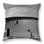 Route 66 - Round Barn Throw Pillow