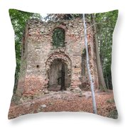 Ruins Of The Baroque Chapel Of Saint Mary Magdalene Throw Pillow