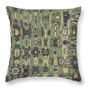 Saguaro Skin Abstract Throw Pillow