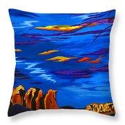 Sailing Sedonas Sky Throw Pillow