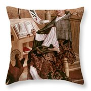 Saint Augustine (354-430) Throw Pillow