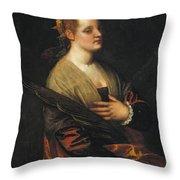 Saint Catherine Throw Pillow