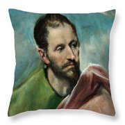 Saint James The Younger Throw Pillow