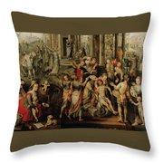 Saint Paul And Saint Barnabas At Lystra Throw Pillow