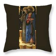 Saints Francis And Mark Throw Pillow