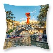 San Antonio River Walk Throw Pillow