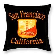 San Francisco California Golden Gate Design Throw Pillow