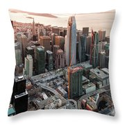 San Francisco Financial District Skyline Throw Pillow