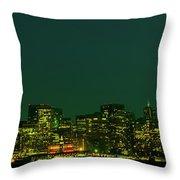 San Francisco Nighttime Skyline Throw Pillow
