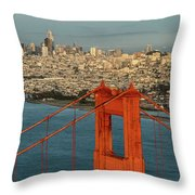 San Francisco Skyline Throw Pillow