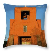 San Miguel Mission Church Throw Pillow