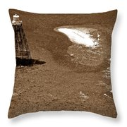 Sand Key Lighthouse Fl Throw Pillow