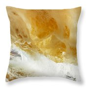 Sandy Wave Throw Pillow