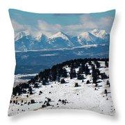 Sangre De Cristo Mountains In Winter Throw Pillow