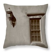 Santa Fe - Adobe Window And Light Throw Pillow