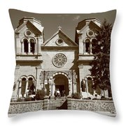 Santa Fe - Basilica Of St. Francis Of Assisi Throw Pillow