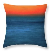 Santa Monica Sunset 1 Throw Pillow
