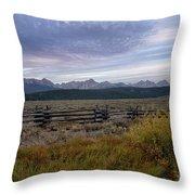 Sawtooth Range Throw Pillow