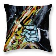 Sax Co-notations Throw Pillow