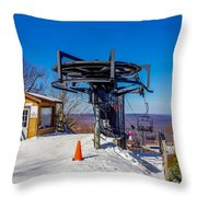 Scenery Around Timberline Ski Resort West Virginia Throw Pillow
