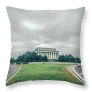 Scenes Around Lincoln Memorial Washington Dc Throw Pillow