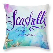 Seashells By Jan Marvin Throw Pillow