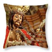 Senhor Bom Jesus Da Pedra Throw Pillow by Gaspar Avila
