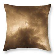 Sepia Clouds Throw Pillow by David Pyatt