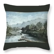 Serenity - Tranquil Stream Throw Pillow