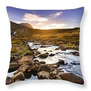 Seydisfjordur Fjord Valley Throw Pillow